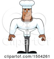 Clipart Of A Happy Buff African American Male Chef Royalty Free Vector Illustration