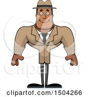 Clipart Of A Happy Buff African American Male Detective Royalty Free Vector Illustration by Cory Thoman