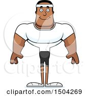 Clipart Of A Happy Buff African American Fitness Man Royalty Free Vector Illustration by Cory Thoman