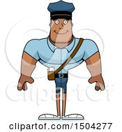 Clipart Of A Happy Buff African American Mail Man Royalty Free Vector Illustration by Cory Thoman