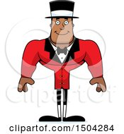 Clipart Of A Happy Buff African American Male Circus Ringmaster Royalty Free Vector Illustration