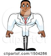 Clipart Of A Happy Buff African American Male Scientist Royalty Free Vector Illustration by Cory Thoman