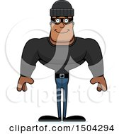 Clipart Of A Happy Buff African American Male Robber Royalty Free Vector Illustration by Cory Thoman