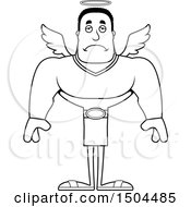 Black And White Sad Buff African American Male Angel
