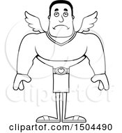 Black And White Sad Buff African American Male Cupid