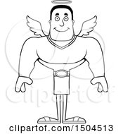 Black And White Happy Buff African American Male Angel