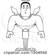 Poster, Art Print Of Black And White Surprised Buff African American Male Angel