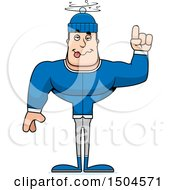 Clipart Of A Drunk Or Dizzy Buff Caucasian Man In Winter Apparel Royalty Free Vector Illustration