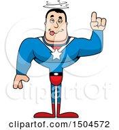 Drunk Buff Caucasian Male Super Hero