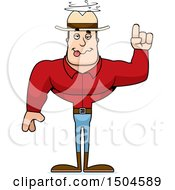Clipart Of A Drunk Buff Caucasian Male Cowboy Royalty Free Vector Illustration