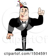 Clipart Of A Drunk Buff Caucasian Party Man Royalty Free Vector Illustration