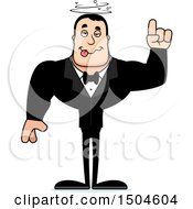 Clipart Of A Drunk Buff Caucasian Male Groom Royalty Free Vector Illustration