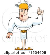 Clipart Of A Buff Caucasian Male Hermes With An Idea Royalty Free Vector Illustration