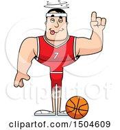 Poster, Art Print Of Drunk Buff Caucasian Male Basketball Player