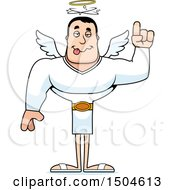 Clipart Of A Drunk Buff Caucasian Male Angel Royalty Free Vector Illustration