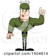 Poster, Art Print Of Drunk Buff Caucasian Male Army Soldier