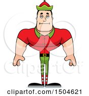 Bored Buff Caucasian Male Christmas Elf