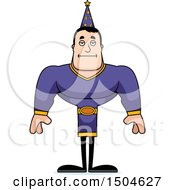 Clipart Of A Bored Buff Caucasian Male Wizard Royalty Free Vector Illustration