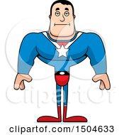Bored Buff Caucasian Male Super Hero