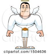 Poster, Art Print Of Bored Buff Caucasian Male Angel
