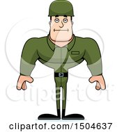 Poster, Art Print Of Bored Buff Caucasian Male Army Soldier