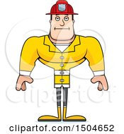 Clipart Of A Bored Buff Caucasian Male Royalty Free Vector Illustration