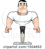 Clipart Of A Bored Buff Caucasian Male Fitness Guy Royalty Free Vector Illustration by Cory Thoman