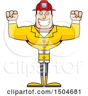Clipart Of A Cheering Buff Caucasian Male Royalty Free Vector Illustration