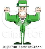 Cheering Buff Caucasian Irish Man