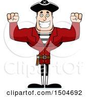 Cheering Buff Caucasian Male Pirate Captain