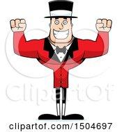 Cheering Buff Caucasian Male Circus Ringmaster