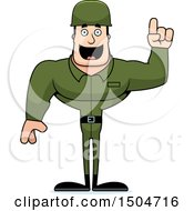 Poster, Art Print Of Buff Caucasian Male Army Soldier With An Idea
