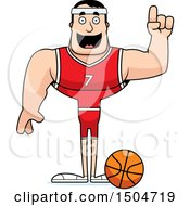 Poster, Art Print Of Buff Caucasian Male Basketball Player With An Idea