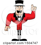 Clipart Of A Buff Caucasian Male Circus Ringmaster With An Idea Royalty Free Vector Illustration