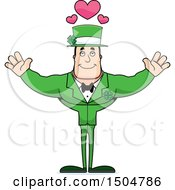 Buff Caucasian Irish Man With Hearts And Open Arms