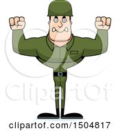 Poster, Art Print Of Mad Buff Caucasian Male Army Soldier