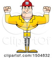 Clipart Of A Mad Buff Caucasian Male Royalty Free Vector Illustration