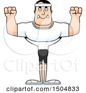 Clipart Of A Mad Buff Caucasian Male Fitness Guy Royalty Free Vector Illustration by Cory Thoman