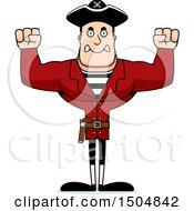 Mad Buff Caucasian Male Pirate Captain