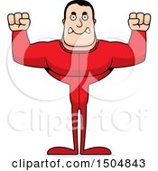 Clipart Of A Mad Buff Caucasian Male In Pjs Royalty Free Vector Illustration by Cory Thoman