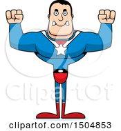 Mad Buff Caucasian Male Super Hero