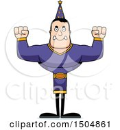 Clipart Of A Mad Buff Caucasian Male Wizard Royalty Free Vector Illustration