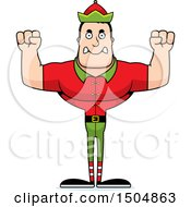Mad Buff Caucasian Male Christmas Elf