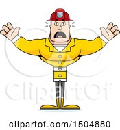 Clipart Of A Scared Buff Caucasian Male Royalty Free Vector Illustration