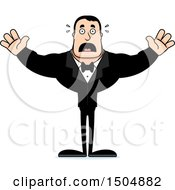 Clipart Of A Scared Buff Caucasian Male Groom Royalty Free Vector Illustration