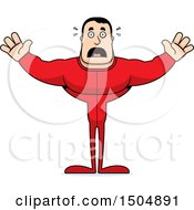 Clipart Of A Scared Buff Caucasian Male In Pjs Royalty Free Vector Illustration by Cory Thoman