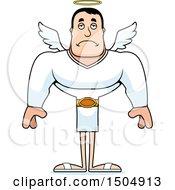 Poster, Art Print Of Sad Buff Caucasian Male Angel