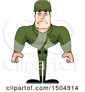 Poster, Art Print Of Sad Buff Caucasian Male Army Soldier