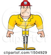 Clipart Of A Sad Buff Caucasian Male Royalty Free Vector Illustration