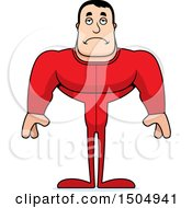 Clipart Of A Sad Buff Caucasian Male In Pjs Royalty Free Vector Illustration by Cory Thoman